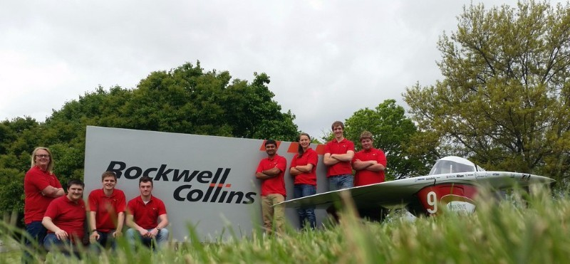 The team visits Rockwell Collins during SunRun 2016